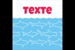 Requins bleus Étiquettes carrées - gabarit prédéfini. <br/>Utilisez notre logiciel Avery Design & Print Online pour personnaliser facilement la conception.