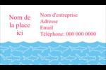 Requins bleus Carte d'affaire - gabarit prédéfini. <br/>Utilisez notre logiciel Avery Design & Print Online pour personnaliser facilement la conception.