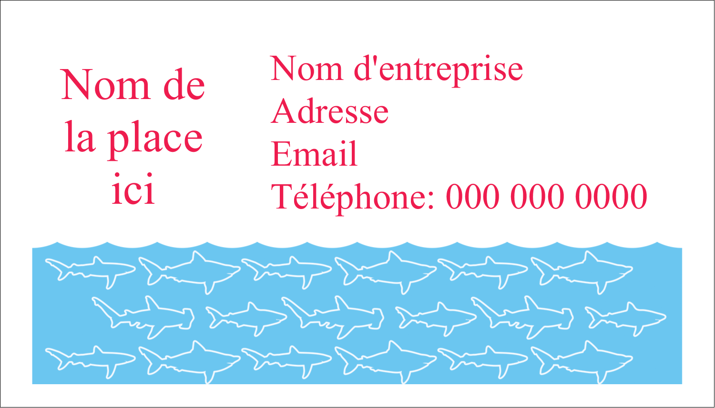 """3"""" x 5"""" Cartes Pour Le Bureau - Requins bleus"""