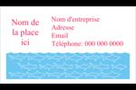 Requins bleus Cartes Pour Le Bureau - gabarit prédéfini. <br/>Utilisez notre logiciel Avery Design & Print Online pour personnaliser facilement la conception.
