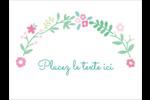 Craie florale Badges - gabarit prédéfini. <br/>Utilisez notre logiciel Avery Design & Print Online pour personnaliser facilement la conception.