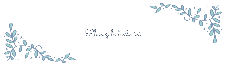 """3½"""" x 11"""" Affichette - Réservez la date bleu"""