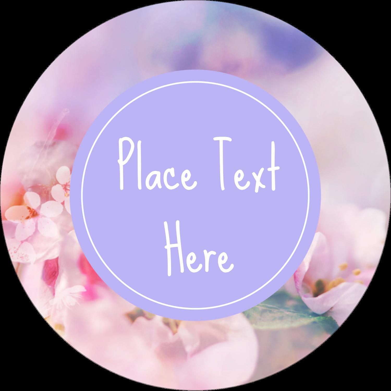 "2½"" Round Label - Floral Dream"