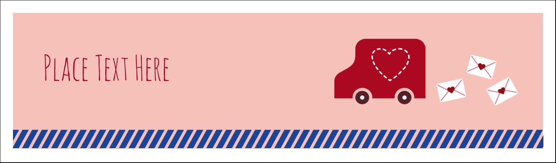 """2½"""" x 8½"""" Tent Card - Valentine Mail"""