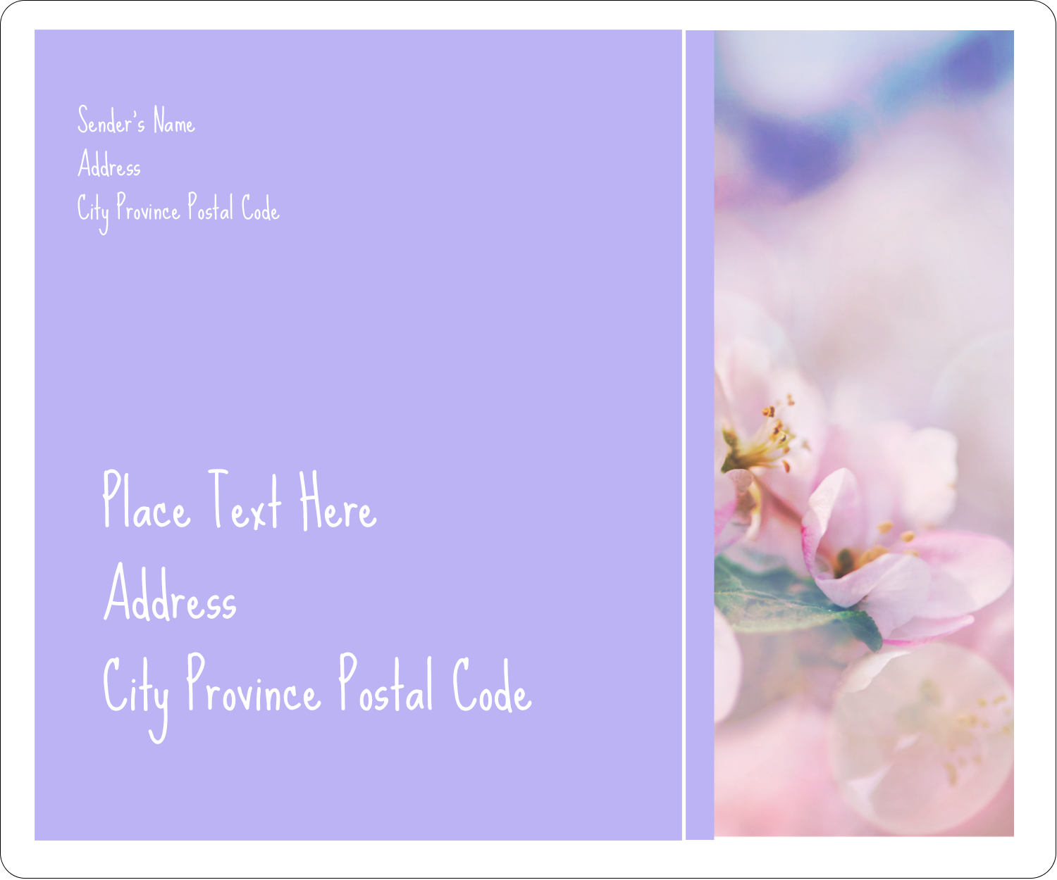 """3⅓"""" x 4"""" Shipping Label - Floral Dream"""