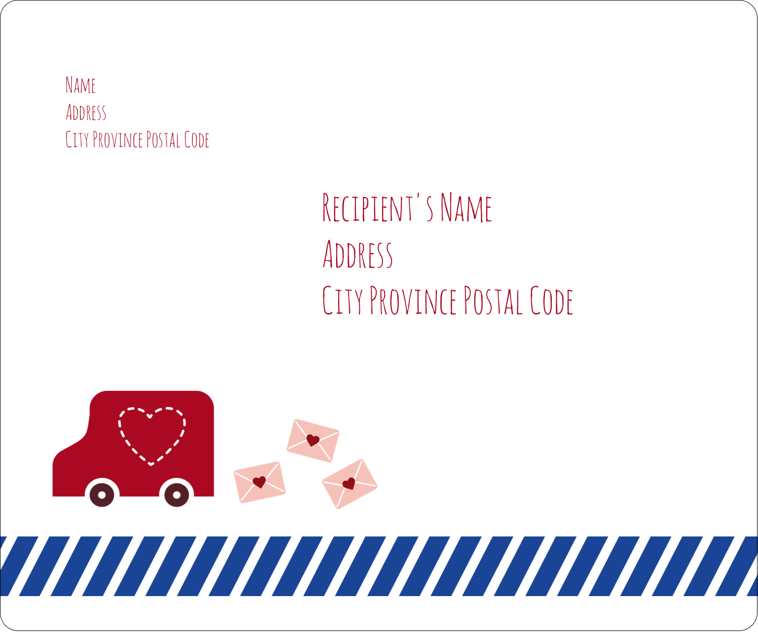 "3⅓"" x 4"" Shipping Label - Valentine Mail"