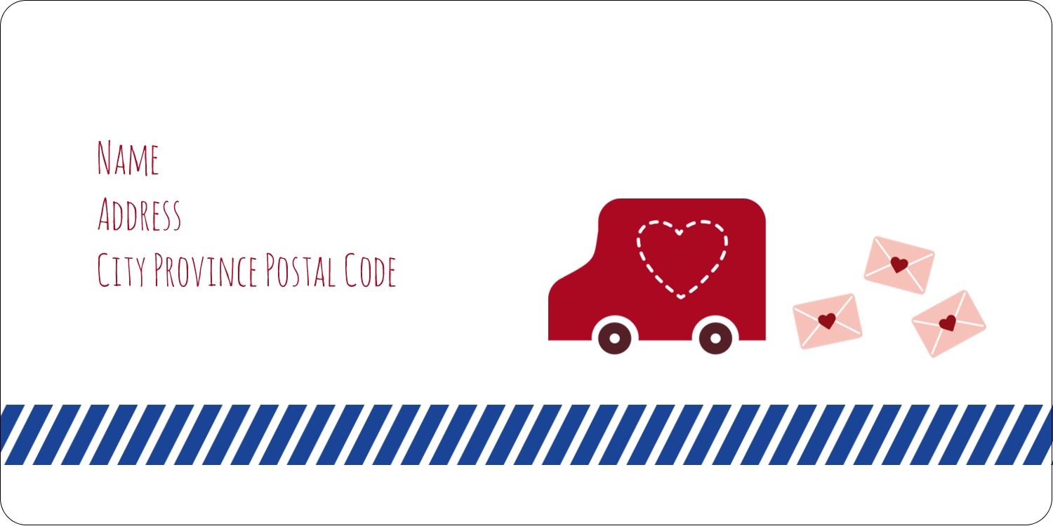 "2"" x 4"" Shipping Label - Valentine Mail"
