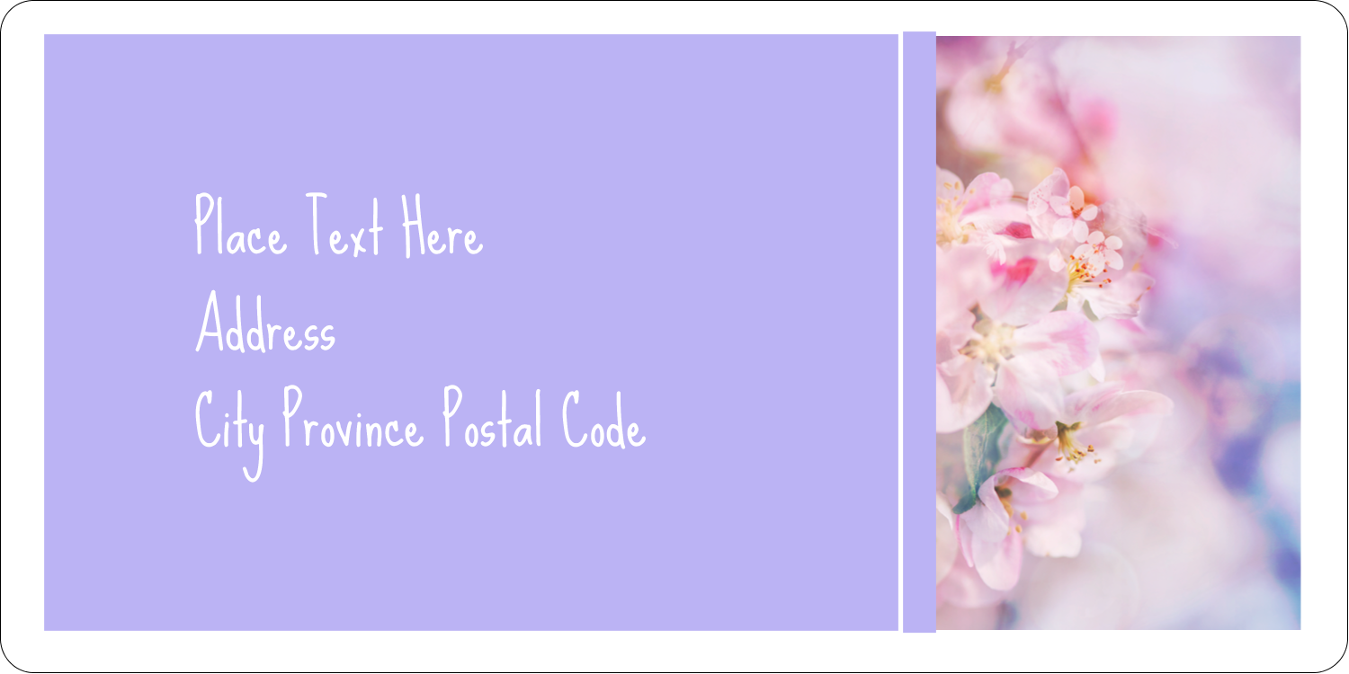 "2"" x 4"" Shipping Label - Floral Dream"