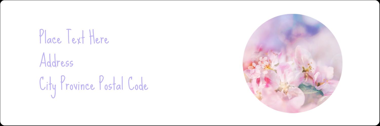 "1⅓"" x 4"" Address Label - Floral Dream"
