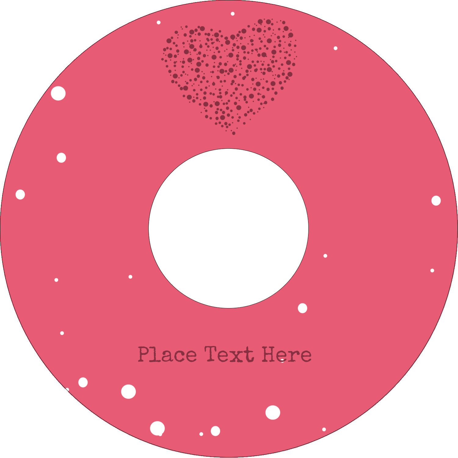 "4.65"" CD-DVD Label - Heart Spot"