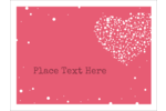 Add simple style to custom projects with printable pre-designed Heart Spot templates.