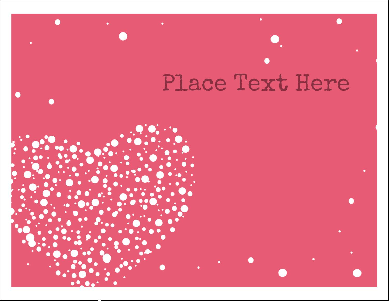"""5½"""" x 4¼"""" Note Card - Heart Spot"""