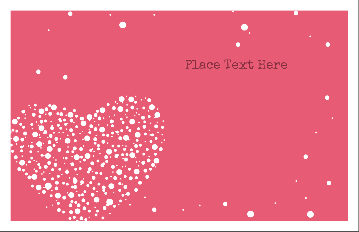 "5½"" x 8½"" Greeting Card - Heart Spot"