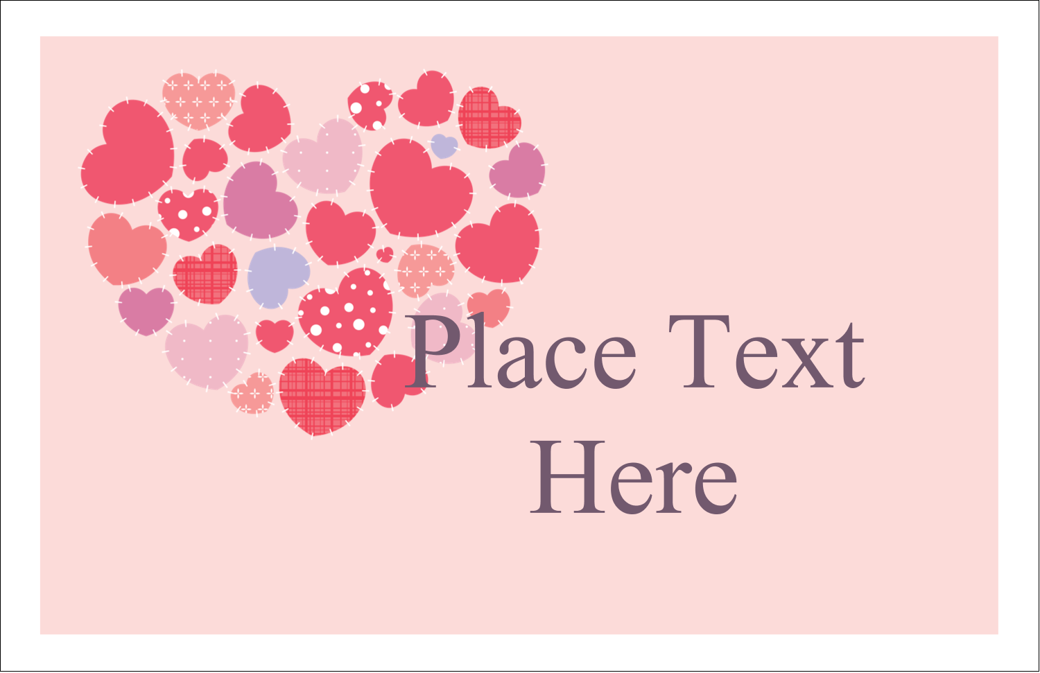 """5½"""" x 8½"""" Greeting Card - Heart Quilt"""
