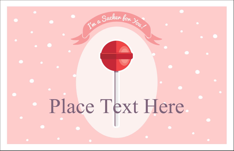 "5½"" x 8½"" Greeting Card - Valentine Lollipop"