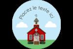 École rouge Étiquettes de classement - gabarit prédéfini. <br/>Utilisez notre logiciel Avery Design & Print Online pour personnaliser facilement la conception.