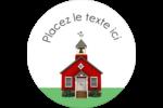 École rouge Étiquettes arrondies - gabarit prédéfini. <br/>Utilisez notre logiciel Avery Design & Print Online pour personnaliser facilement la conception.