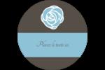 Roses bleues officielles Étiquettes rondes - gabarit prédéfini. <br/>Utilisez notre logiciel Avery Design & Print Online pour personnaliser facilement la conception.