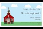 École rouge Cartes Pour Le Bureau - gabarit prédéfini. <br/>Utilisez notre logiciel Avery Design & Print Online pour personnaliser facilement la conception.