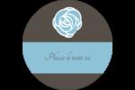 Roses bleues officielles Étiquettes Voyantes - gabarit prédéfini. <br/>Utilisez notre logiciel Avery Design & Print Online pour personnaliser facilement la conception.