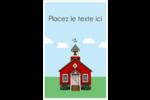 École rouge Reliures - gabarit prédéfini. <br/>Utilisez notre logiciel Avery Design & Print Online pour personnaliser facilement la conception.