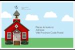 École rouge Étiquettes d'adresse - gabarit prédéfini. <br/>Utilisez notre logiciel Avery Design & Print Online pour personnaliser facilement la conception.