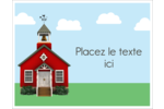 École rouge Cartes Et Articles D'Artisanat Imprimables - gabarit prédéfini. <br/>Utilisez notre logiciel Avery Design & Print Online pour personnaliser facilement la conception.