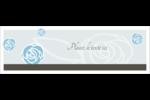 Roses bleues officielles Carte de note - gabarit prédéfini. <br/>Utilisez notre logiciel Avery Design & Print Online pour personnaliser facilement la conception.