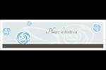 Roses bleues officielles Affichette - gabarit prédéfini. <br/>Utilisez notre logiciel Avery Design & Print Online pour personnaliser facilement la conception.
