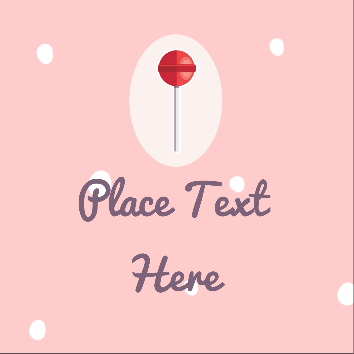 "1½"" x 1½"" Square Label - Valentine Lollipop"