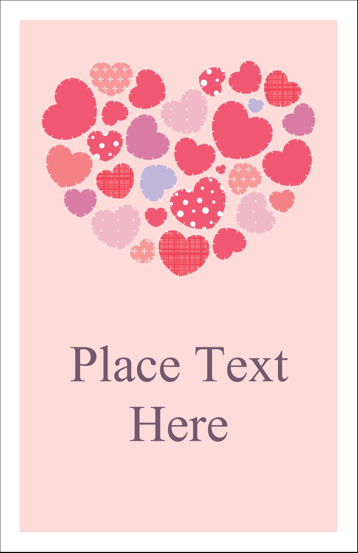 """5"""" x 8½"""" Half Fold Card - Heart Quilt"""