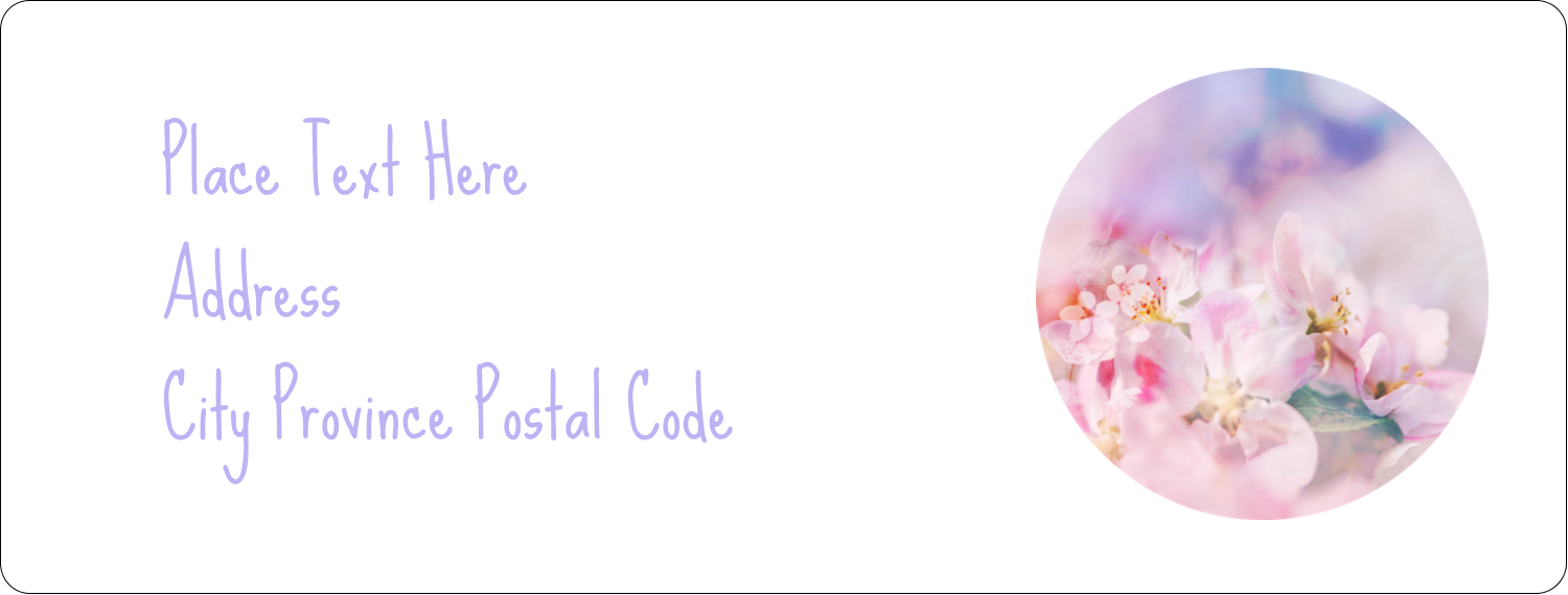 "1"" x 2⅝"" Address Label - Floral Dream"