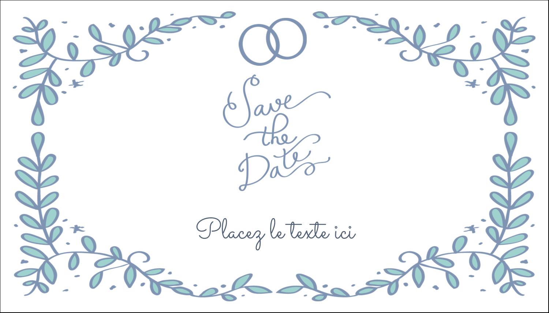 """3"""" x 5"""" Cartes Pour Le Bureau - Réservez la date bleu"""