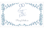 Réservez la date bleu Cartes Pour Le Bureau - gabarit prédéfini. <br/>Utilisez notre logiciel Avery Design & Print Online pour personnaliser facilement la conception.