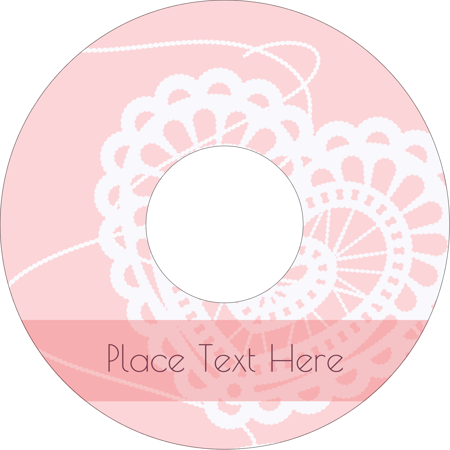 "4.65"" CD-DVD Label - Valentine Crochet"