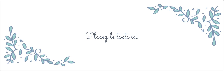 """4¼"""" x 5½"""" Carte de note - Réservez la date bleu"""