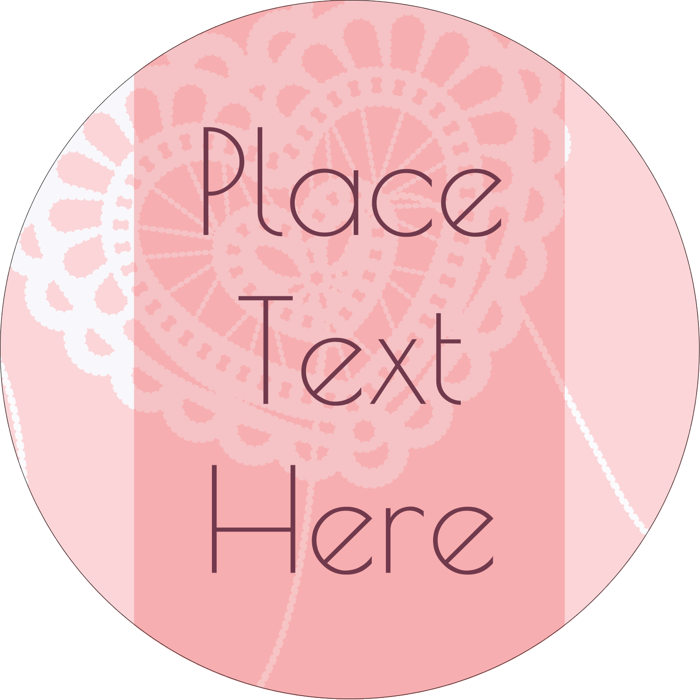 """2½"""" Round Label - Valentine Crochet"""