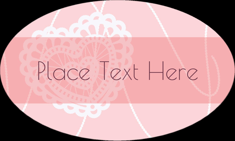 "1½"" x 2½"" Oval Glossy Label - Valentine Crochet"