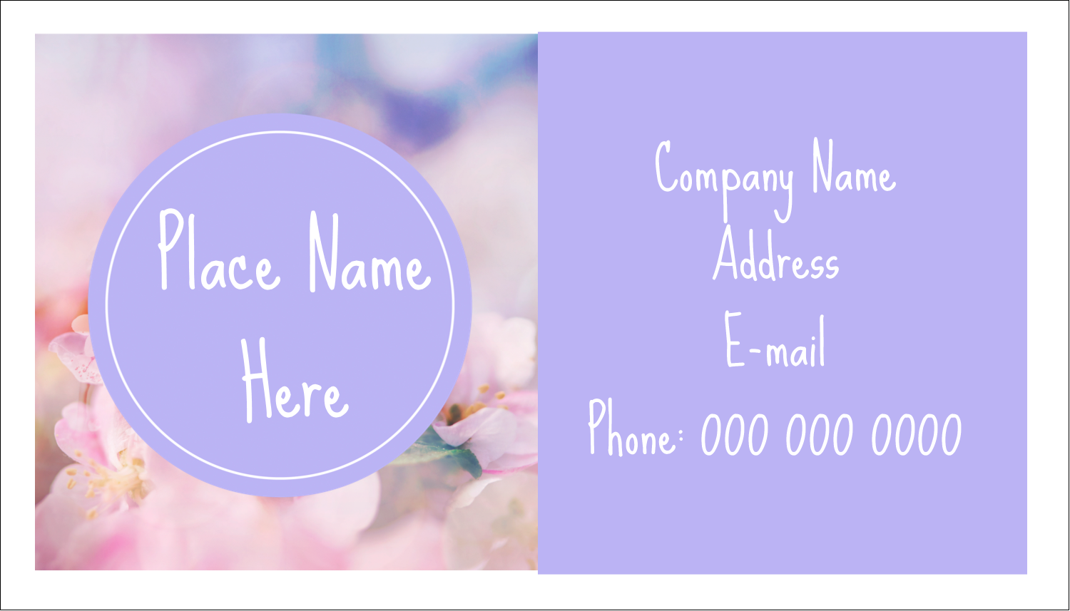 "2"" x 3½"" Business Card - Floral Dream"