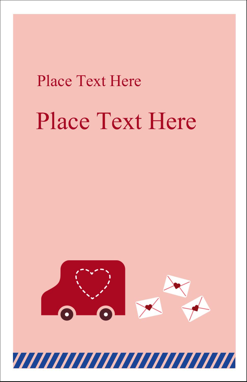 "5"" x 8½"" Half Fold Card - Valentine Mail"