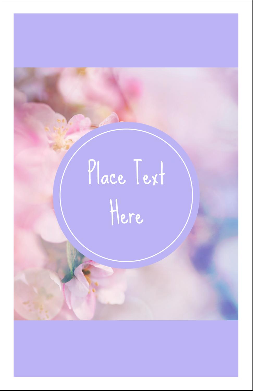 "5"" x 8½"" Half Fold Card - Floral Dream"