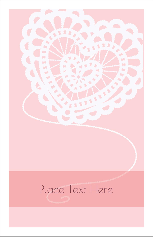 "5"" x 8½"" Half Fold Card - Valentine Crochet"
