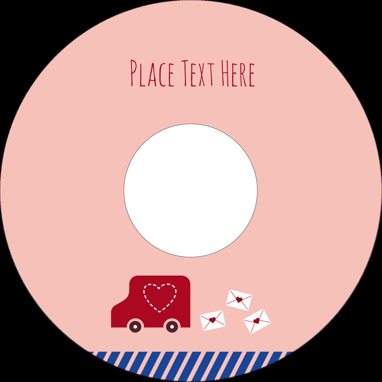"4.65"" CD-DVD Label - Valentine Mail"