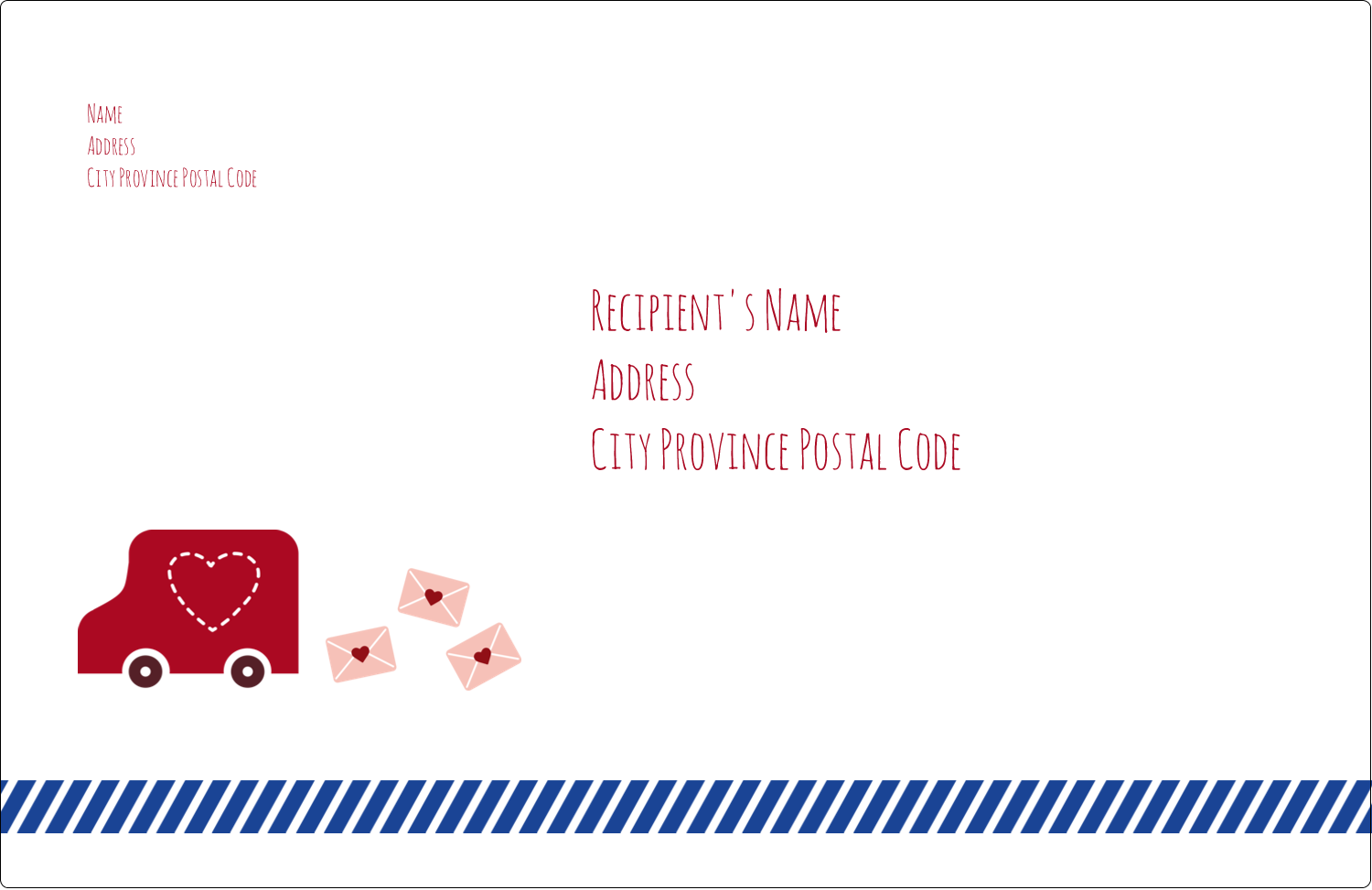 "5½"" x 8½"" Shipping Label - Valentine Mail"