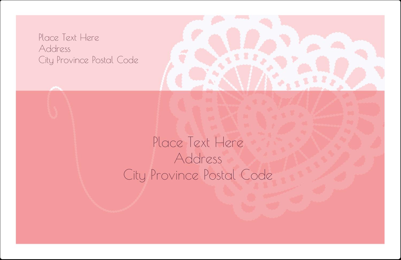 "5½"" x 8½"" Shipping Label - Valentine Crochet"