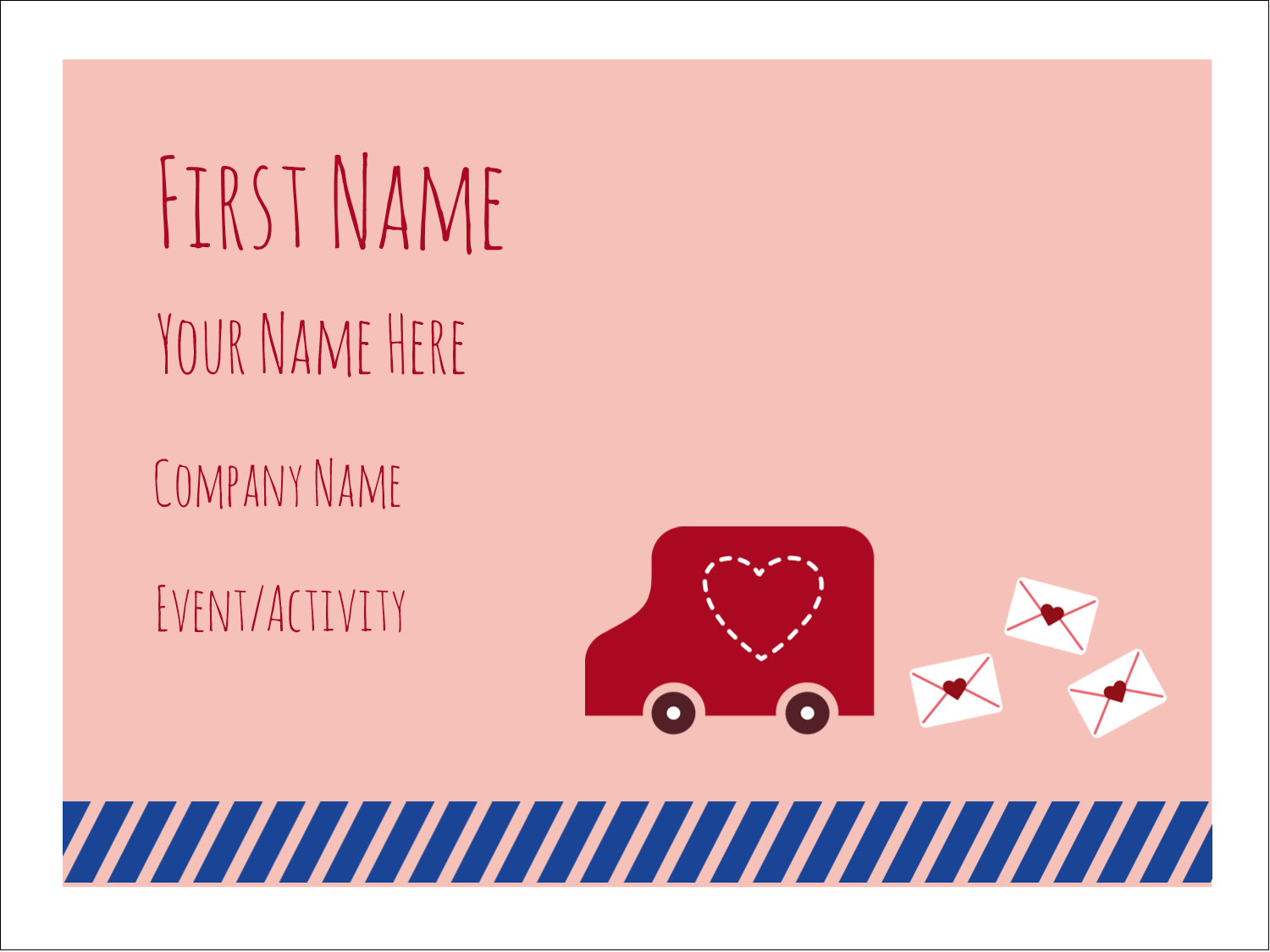 "3"" x 4"" Name Tags - Valentine Mail"