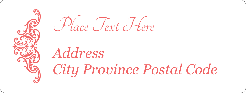 "1"" x 2⅝"" Address Label - Wedding Elegance"