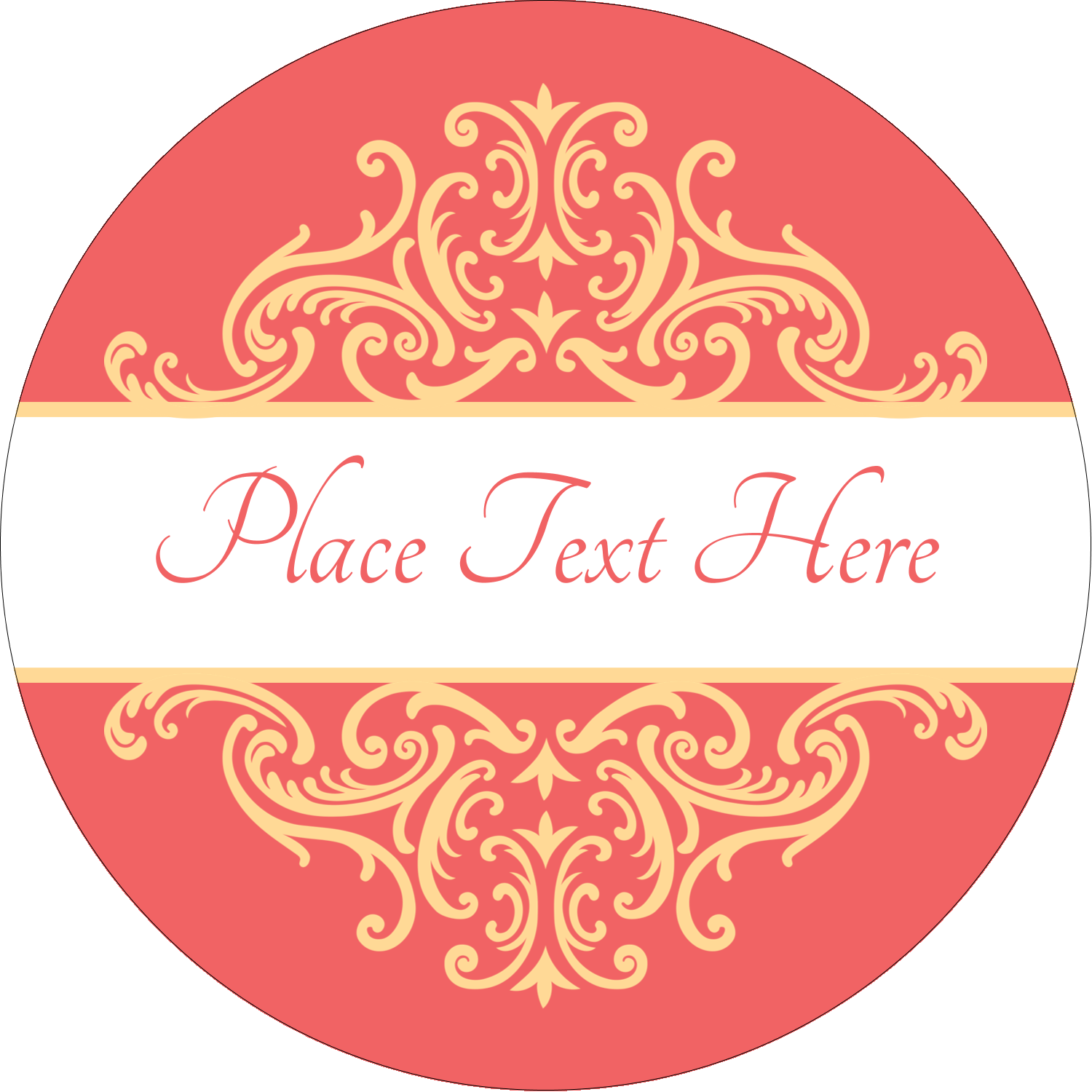 "1½"" Round Label - Wedding Elegance"