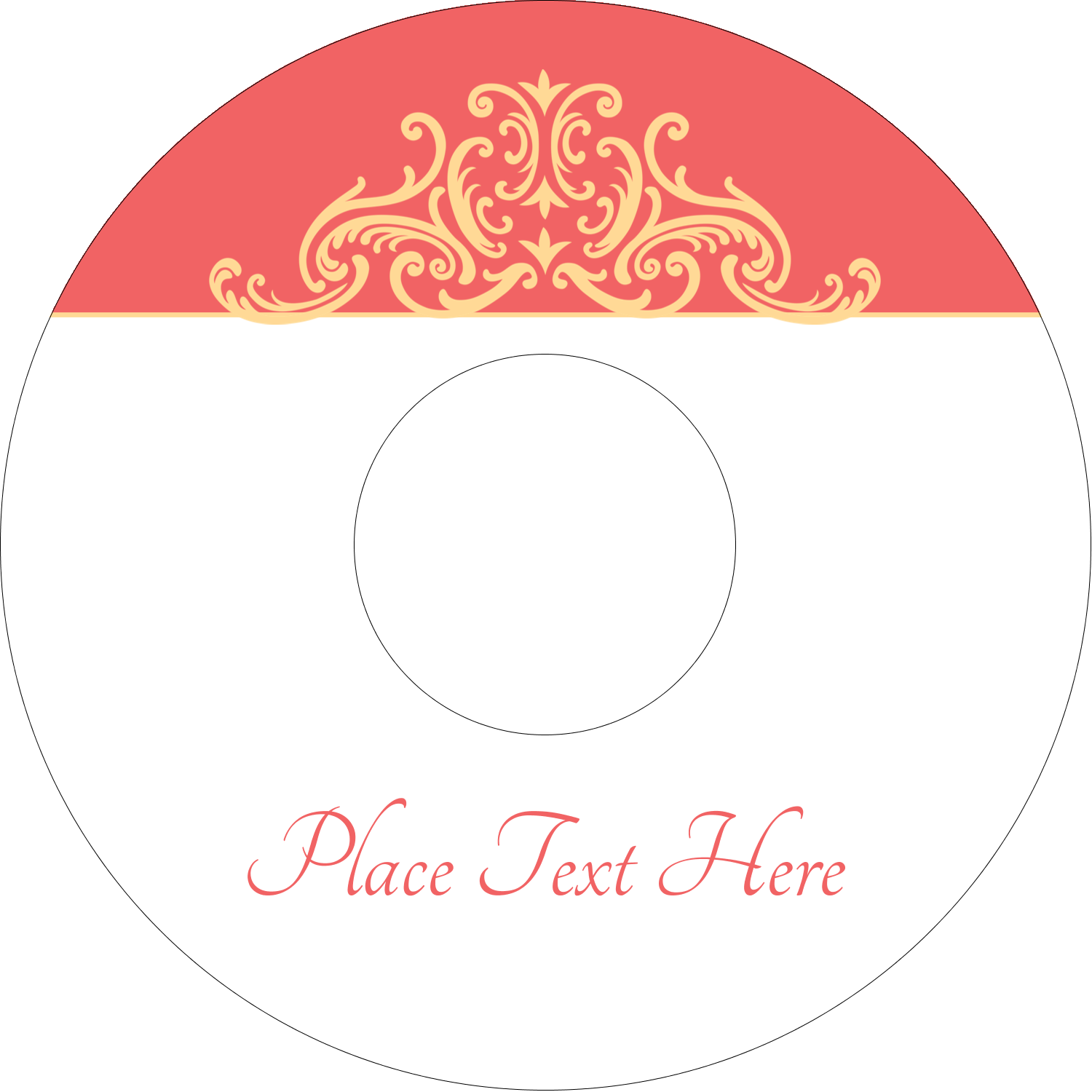 "4.65"" CD-DVD Label - Wedding Elegance"