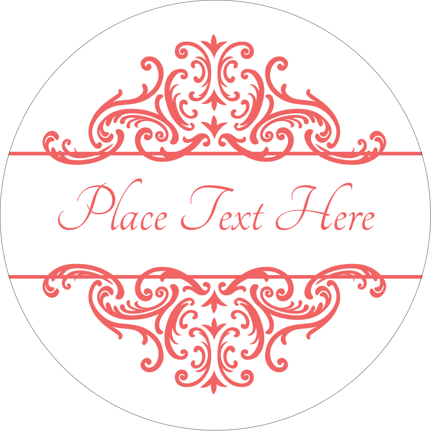 "2½"" Round Label - Wedding Elegance"